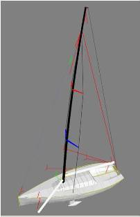 Boat model and rig